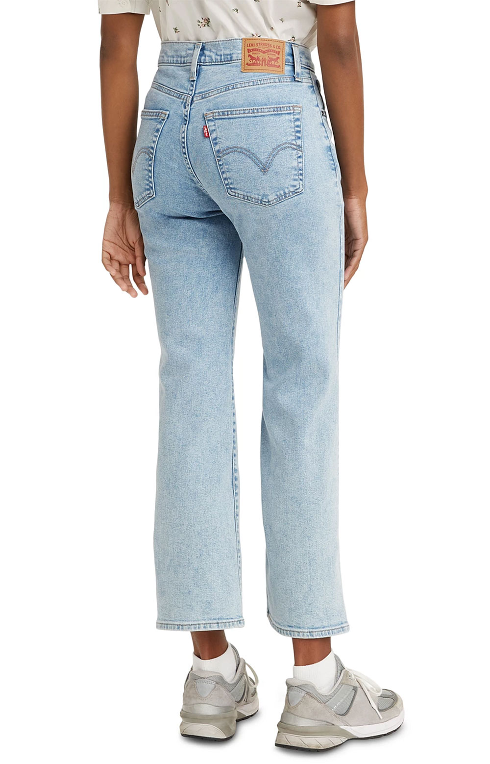 (A0967-0001) High Rise Cropped Flare Jeans - High Light/Light Wash  3