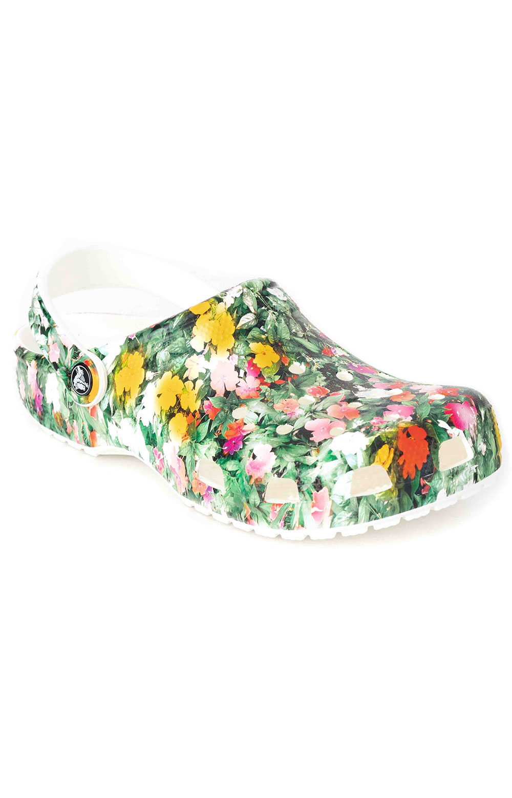 Classic Printed Floral Clogs - White/Multi