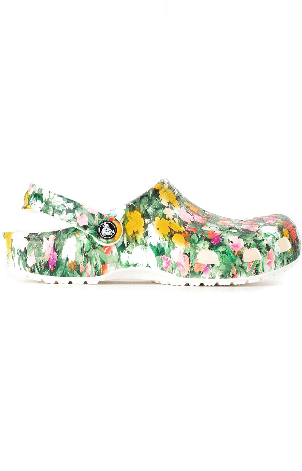 Classic Printed Floral Clogs - White/Multi 2