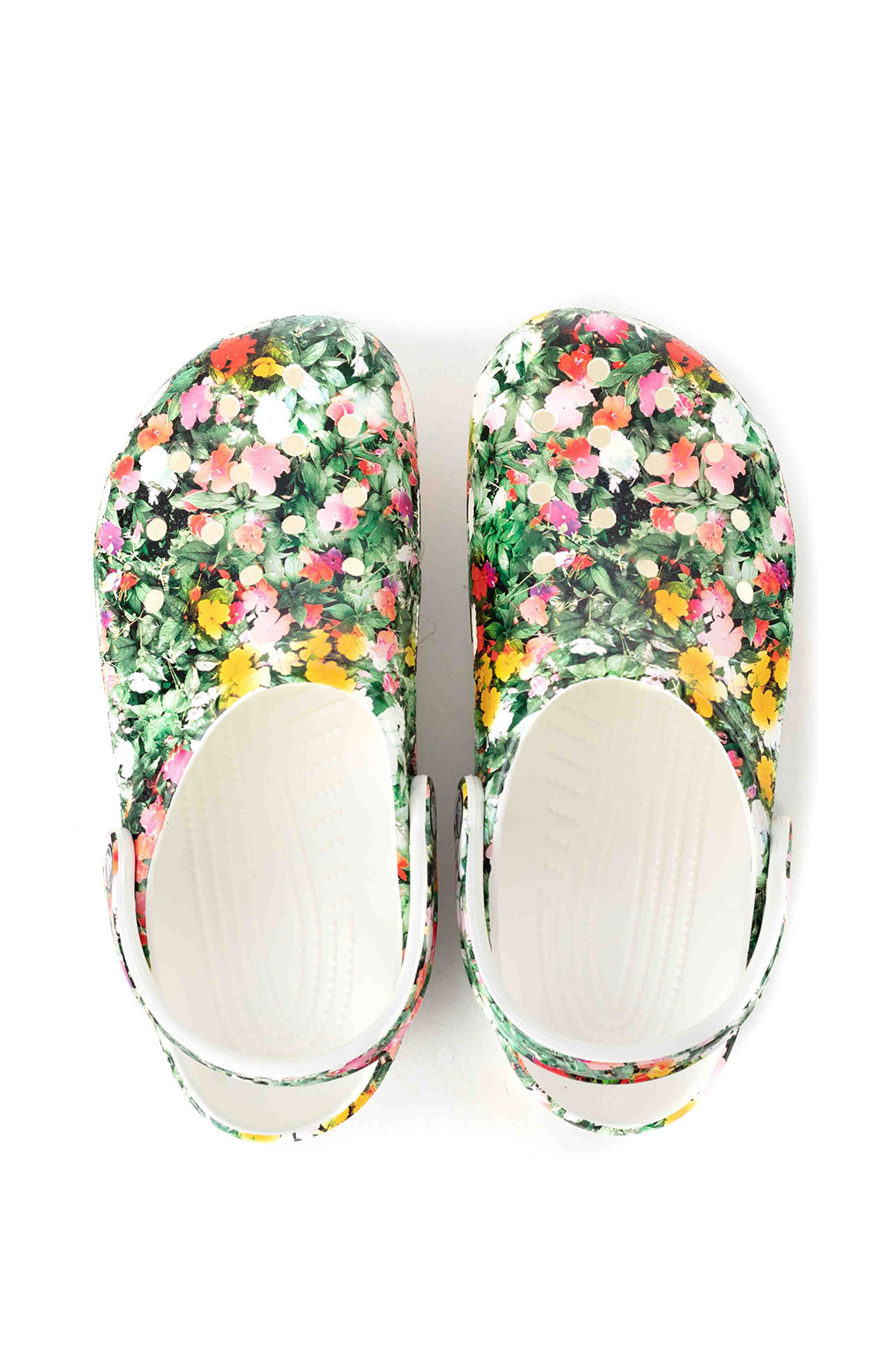 Classic Printed Floral Clogs - White/Multi 4