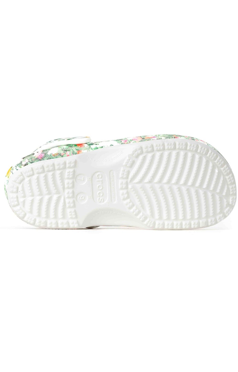 Classic Printed Floral Clogs - White/Multi 5
