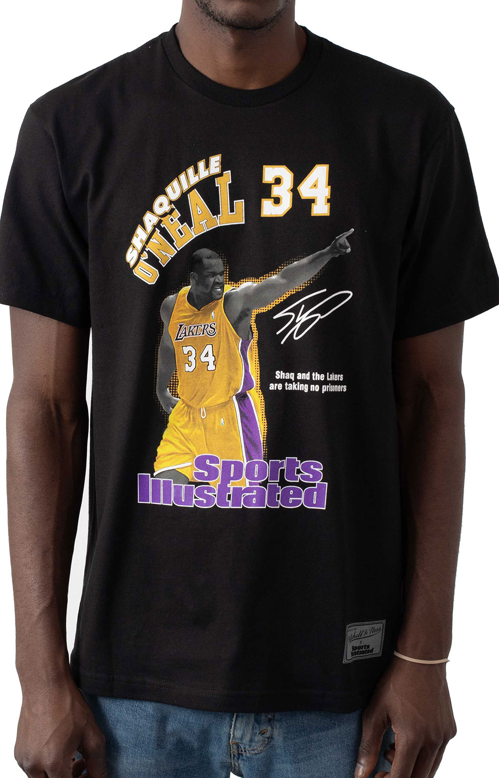 NBA Photo Real SI Lakers Shaquille O'Neal T-Shirt - Black