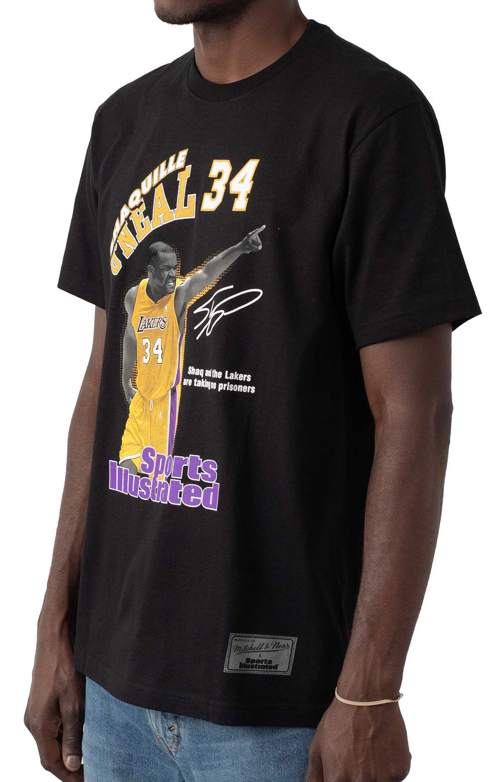 NBA Photo Real SI Lakers Shaquille O'Neal T-Shirt - Black 2