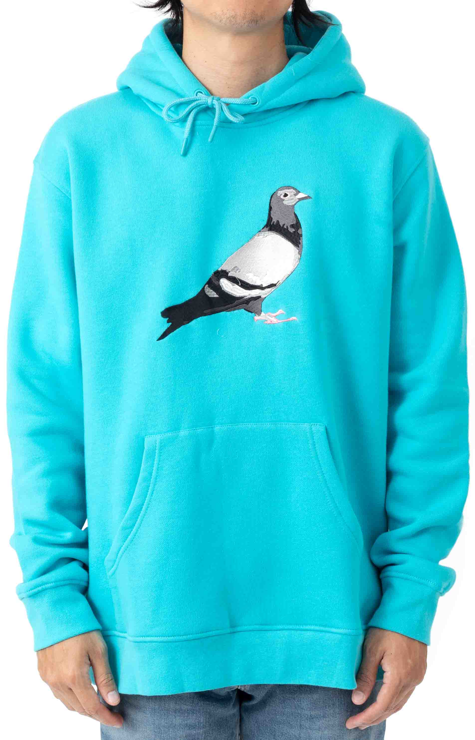 Pigeon Logo Pullover Hoodie - Electric Blue