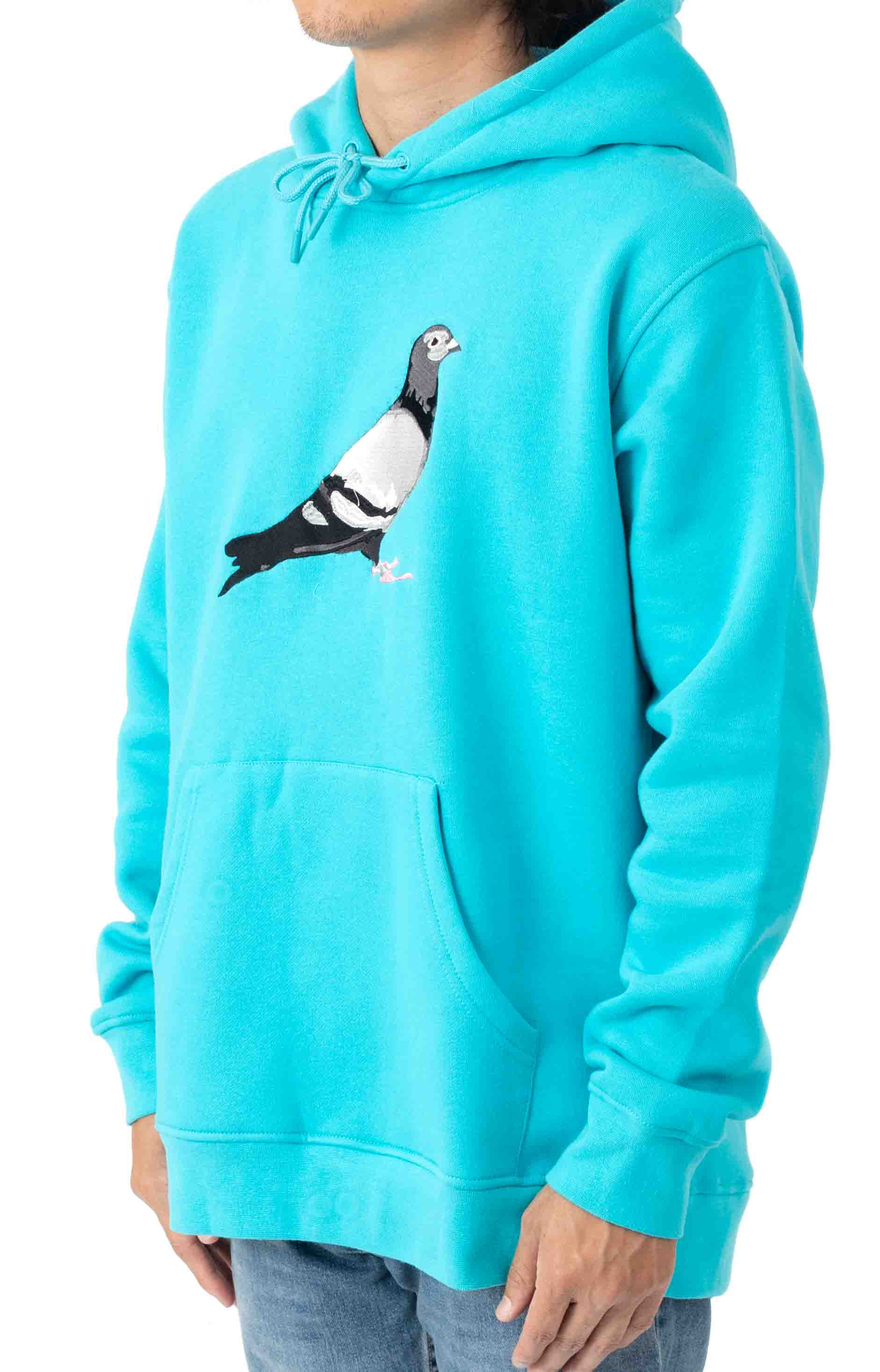 Pigeon Logo Pullover Hoodie - Electric Blue  2