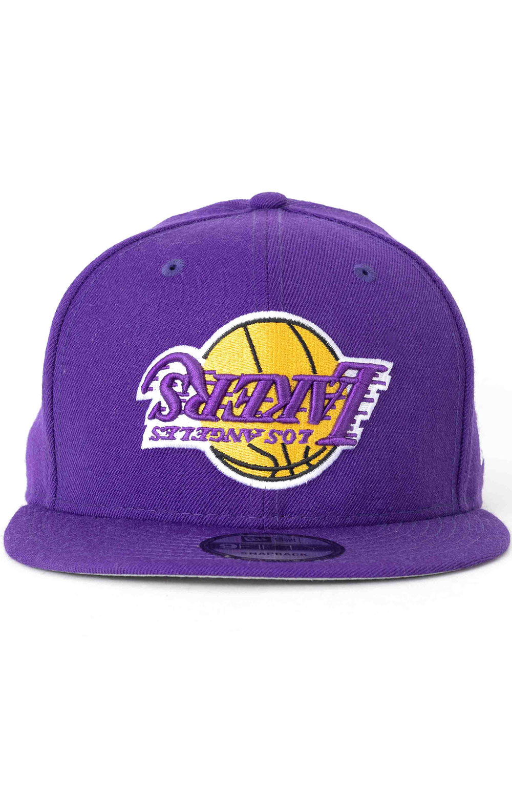 9Fifty Upside Logo Los Angeles Lakers Snap-Back Hat 2