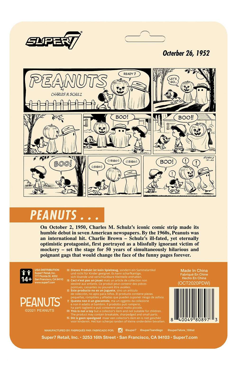 Peanuts ReAction Figure Wave 4 - Masked Snoopy 3