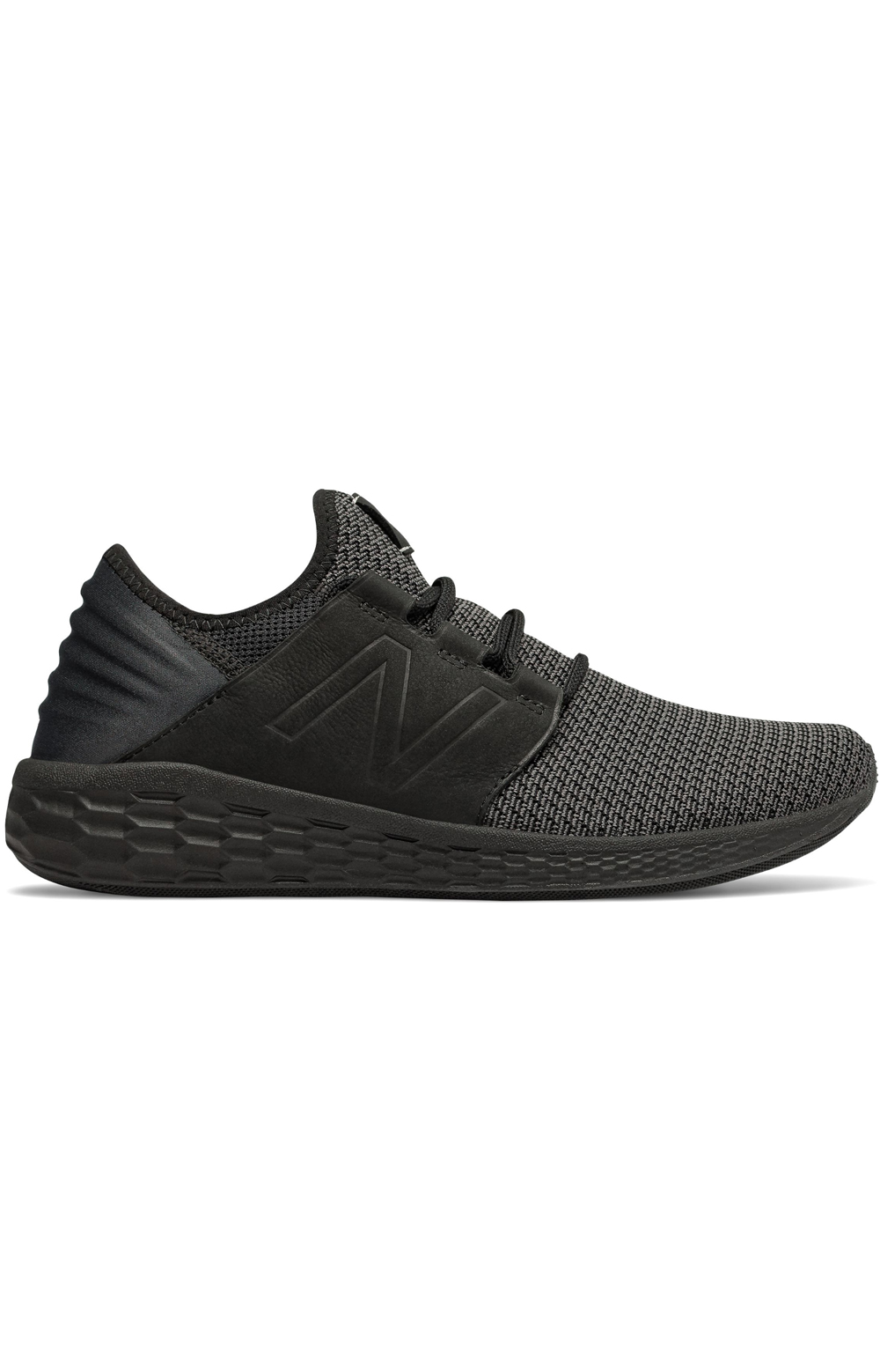 New Balance, (MCRUZNB2) Fresh Foam Cruz v2 Nubuck Shoe - Black