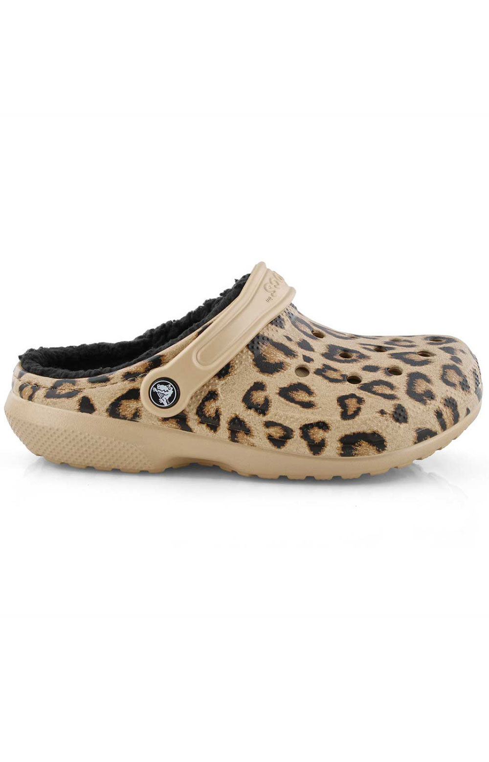 Classic Printed Lined Clog - Leopard/Black 2
