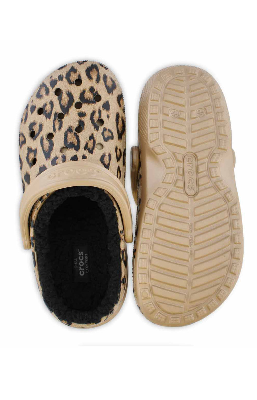 Classic Printed Lined Clog - Leopard/Black 3