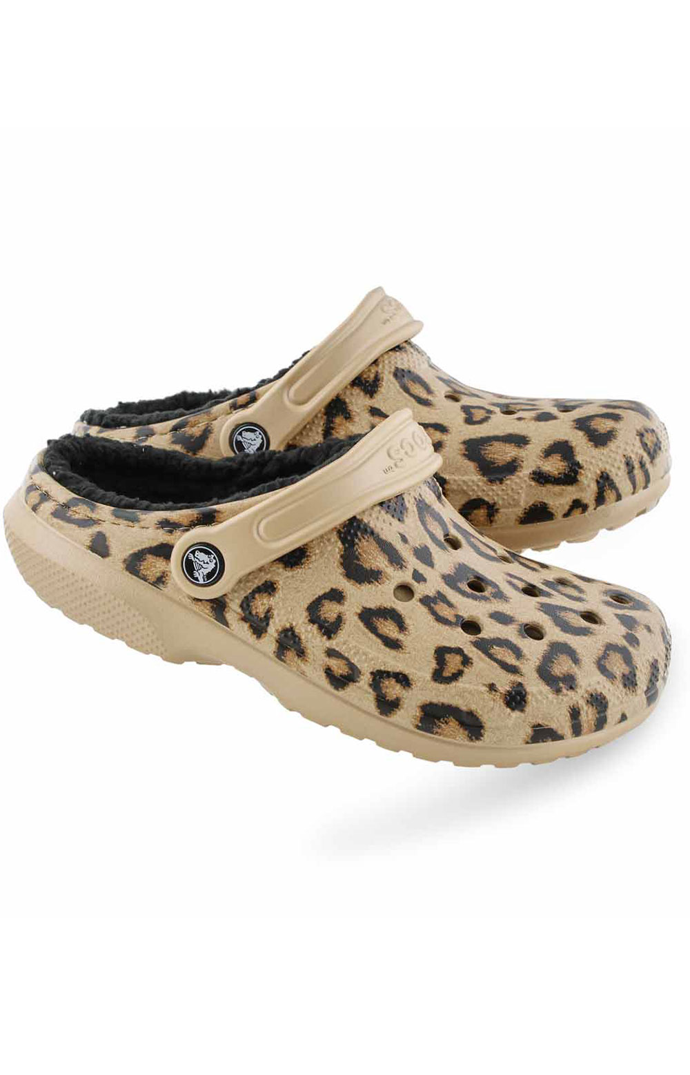 Classic Printed Lined Clog - Leopard/Black 4