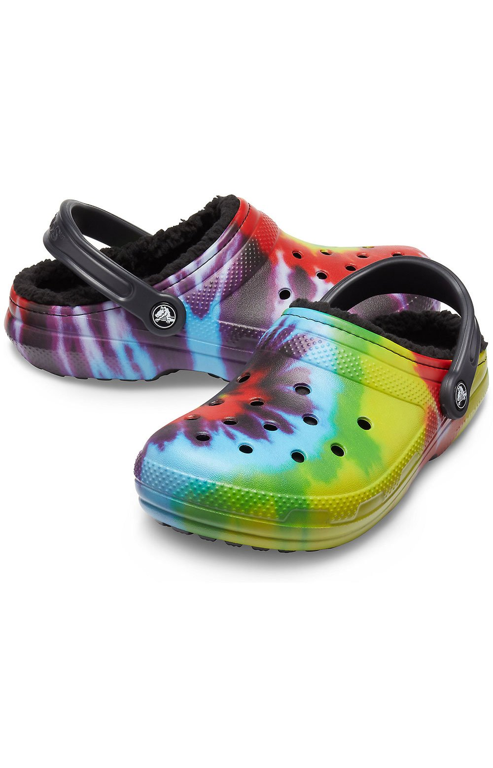 Classic Lined Tie-Dye Clogs - Multi/Black 3