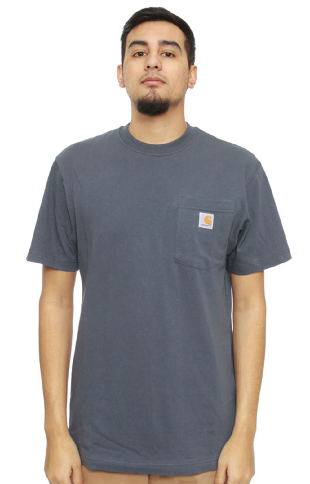 (K87) Workwear Pocket T-Shirt - Bluestone