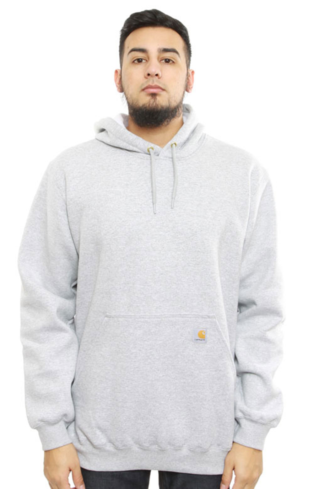 (K121) Midweight Pullover Hoodie - Heather Grey