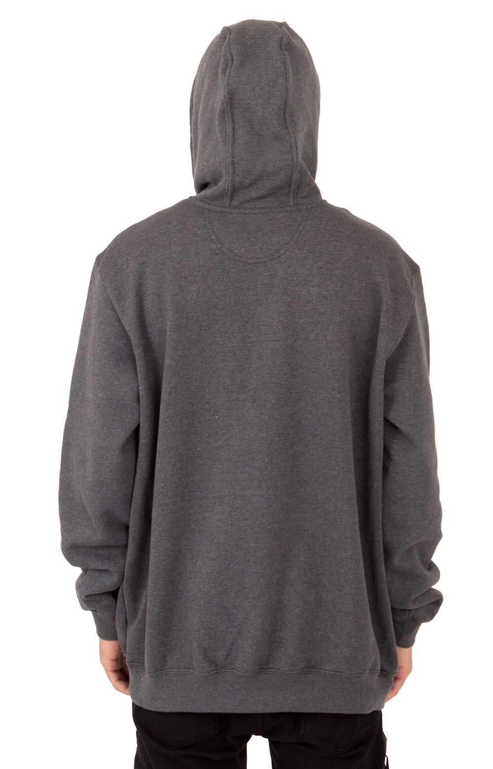 (K121) Midweight Pullover Hoodie - Carbon Heather  2