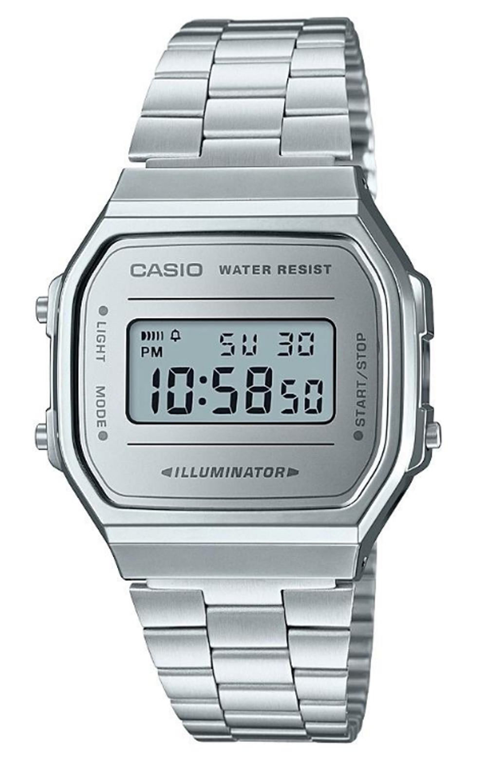 Casio, A168WEM-7 Watch - Silver