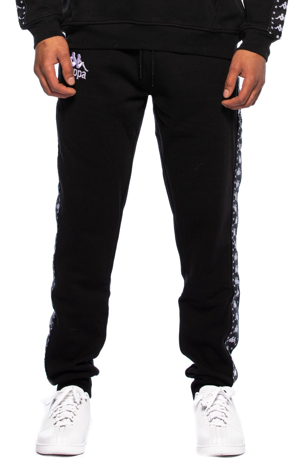 Authentic Amsag Slim Fit Sweatpants - Black/White 2