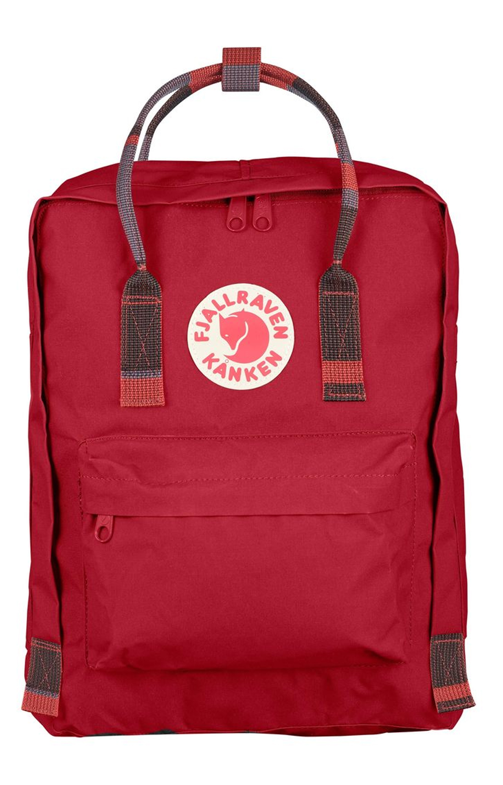 Kanken Backpack - Deep Red/Random Blocked