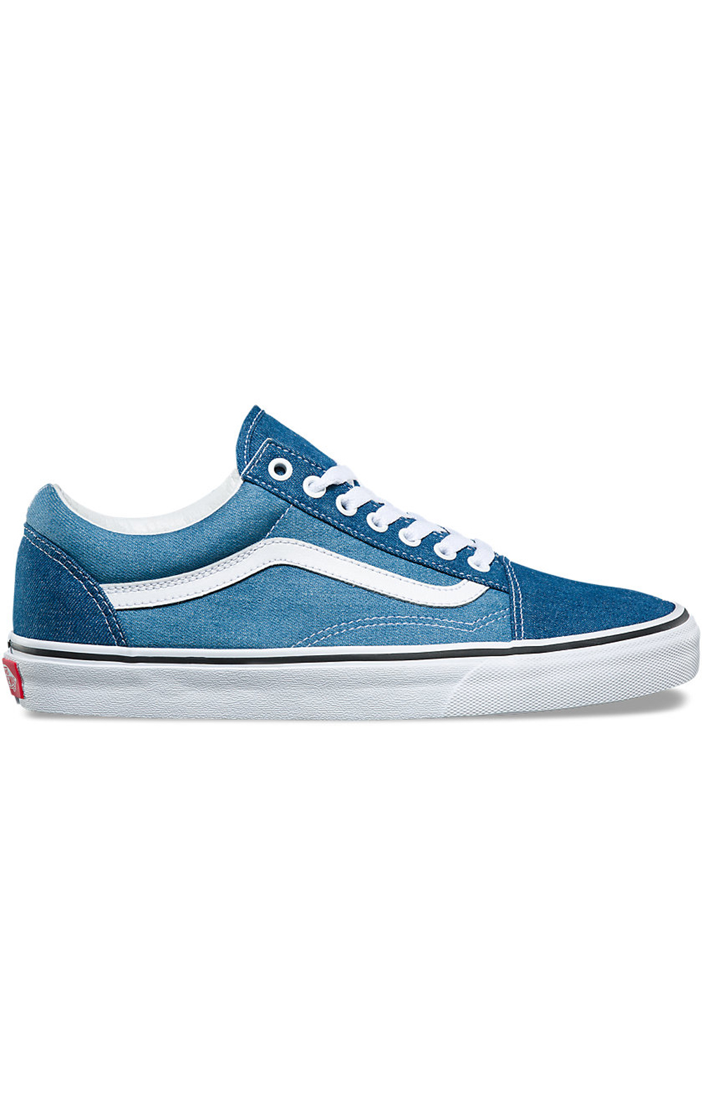 (8G1Q69) Denim 2-Tone Old Skool Shoe - Blue