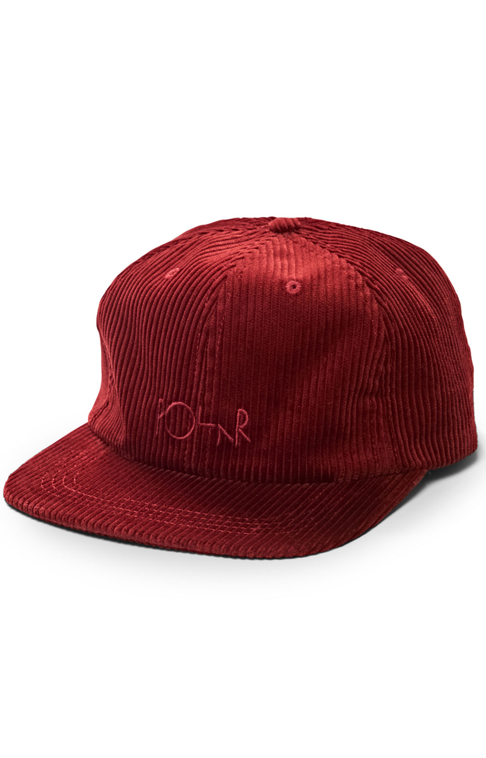 Corduroy Strap-Back Cap - Red