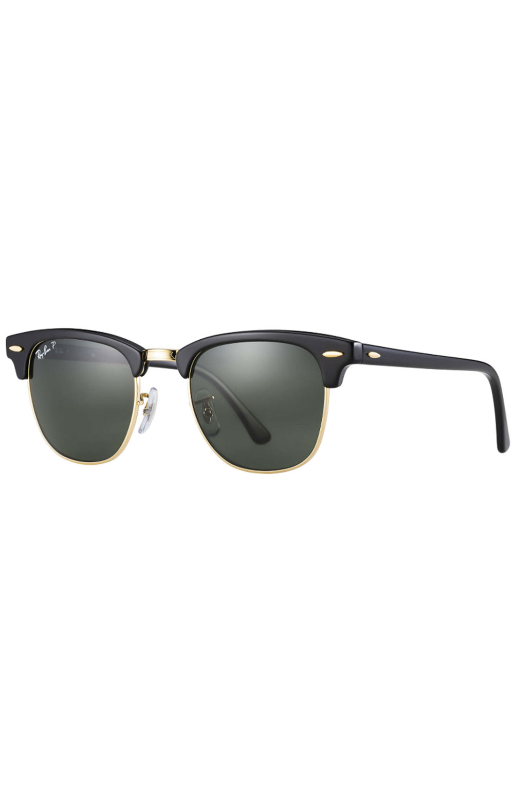 (901/5849) Clubmaster Sunglasses - Black/Crystal Green