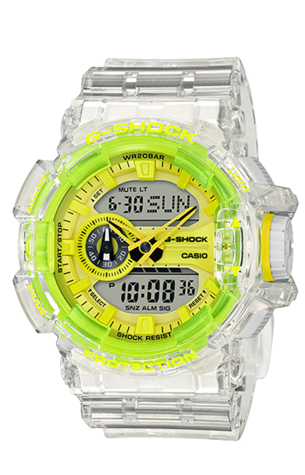 GA400SK-1A9 Watch - Clear/Lime