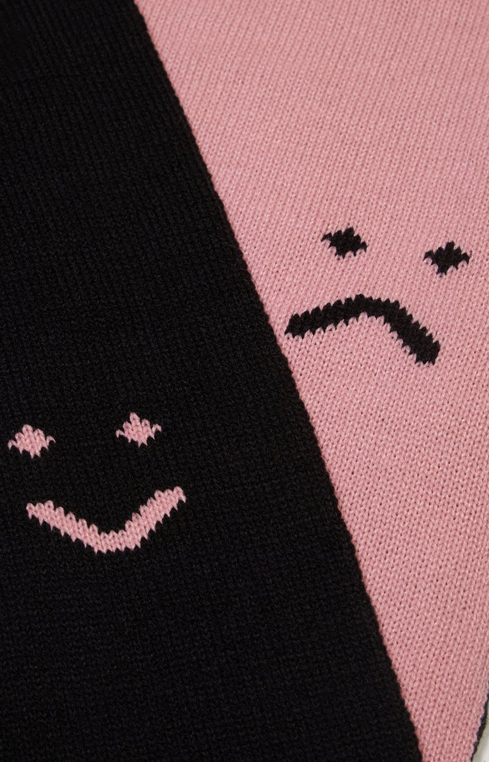 Happy Sad Knitted Scarf 2