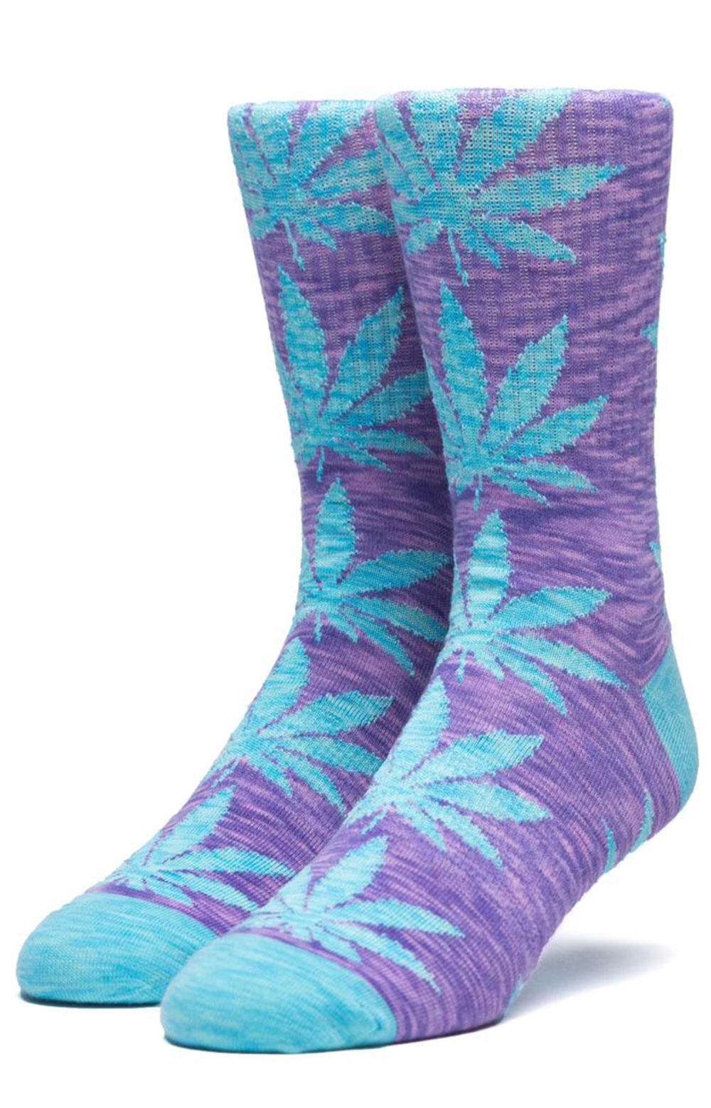 Plantlife Full Melange Crew Sock - Blue Iris