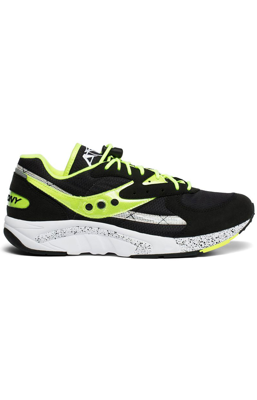 (S70460-3) Aya Shoe - Black/Neon
