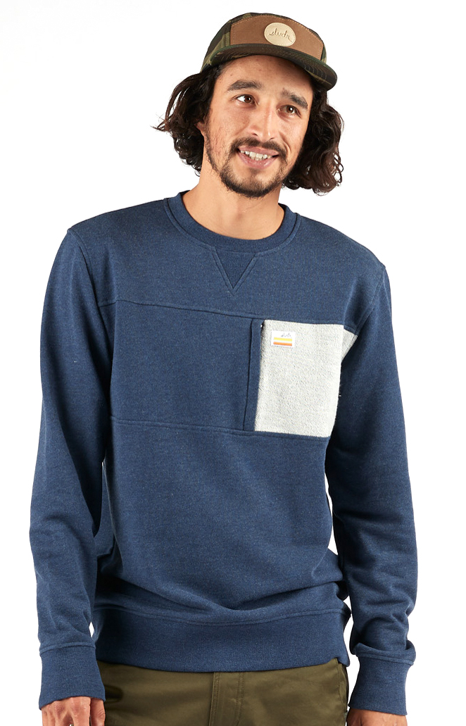Fort Crewneck - Navy Heather