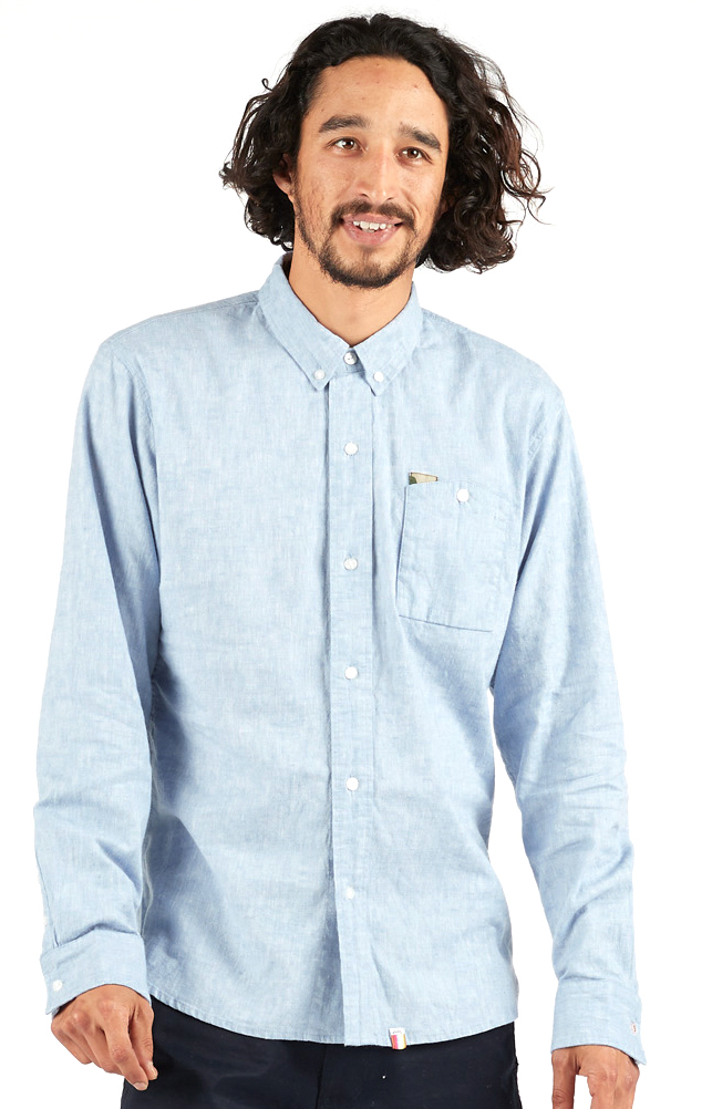 Merlo Button-Up Shirt - Washed Blue