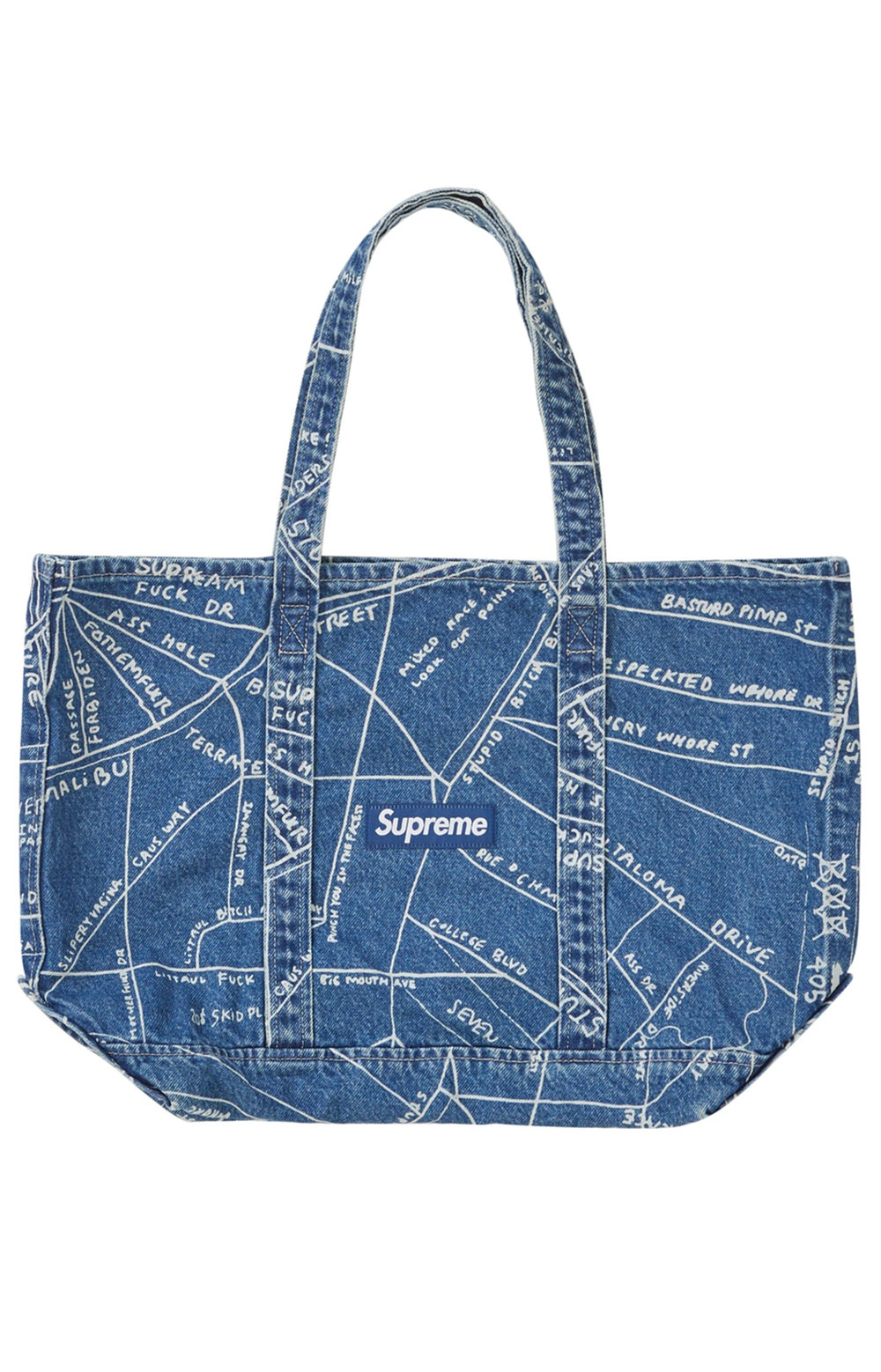Gonz Map Tote Bag - Blue