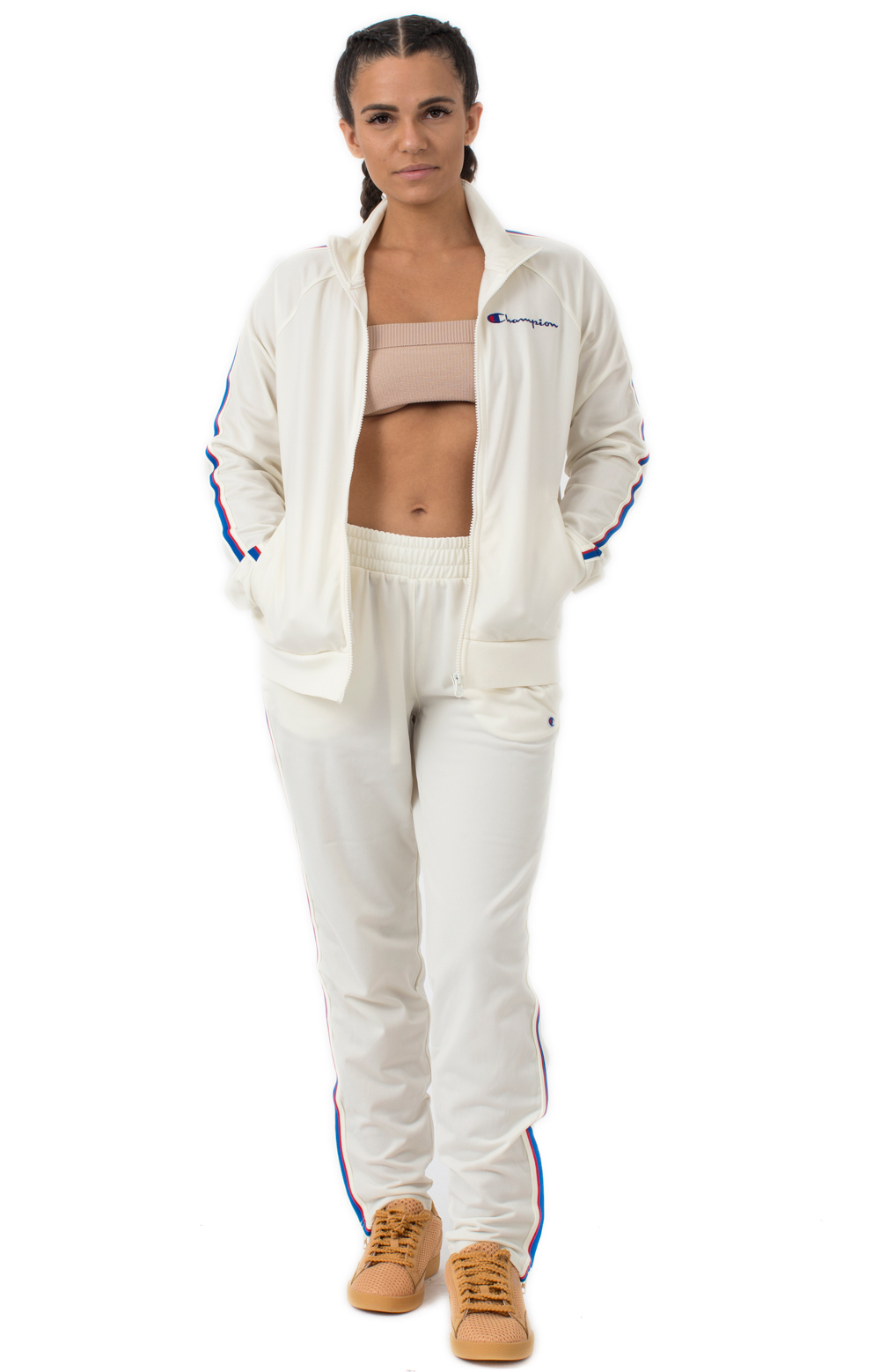 Track Jacket w/ Signature Taping - Chalk White