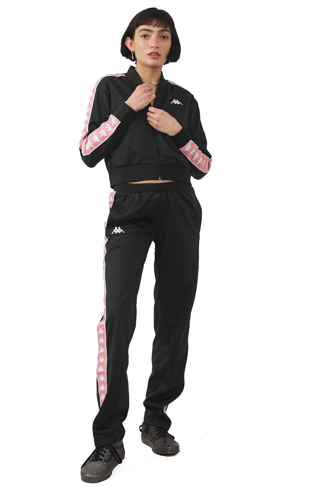 222 Banda Wastoria Pants - Black/White/Pink