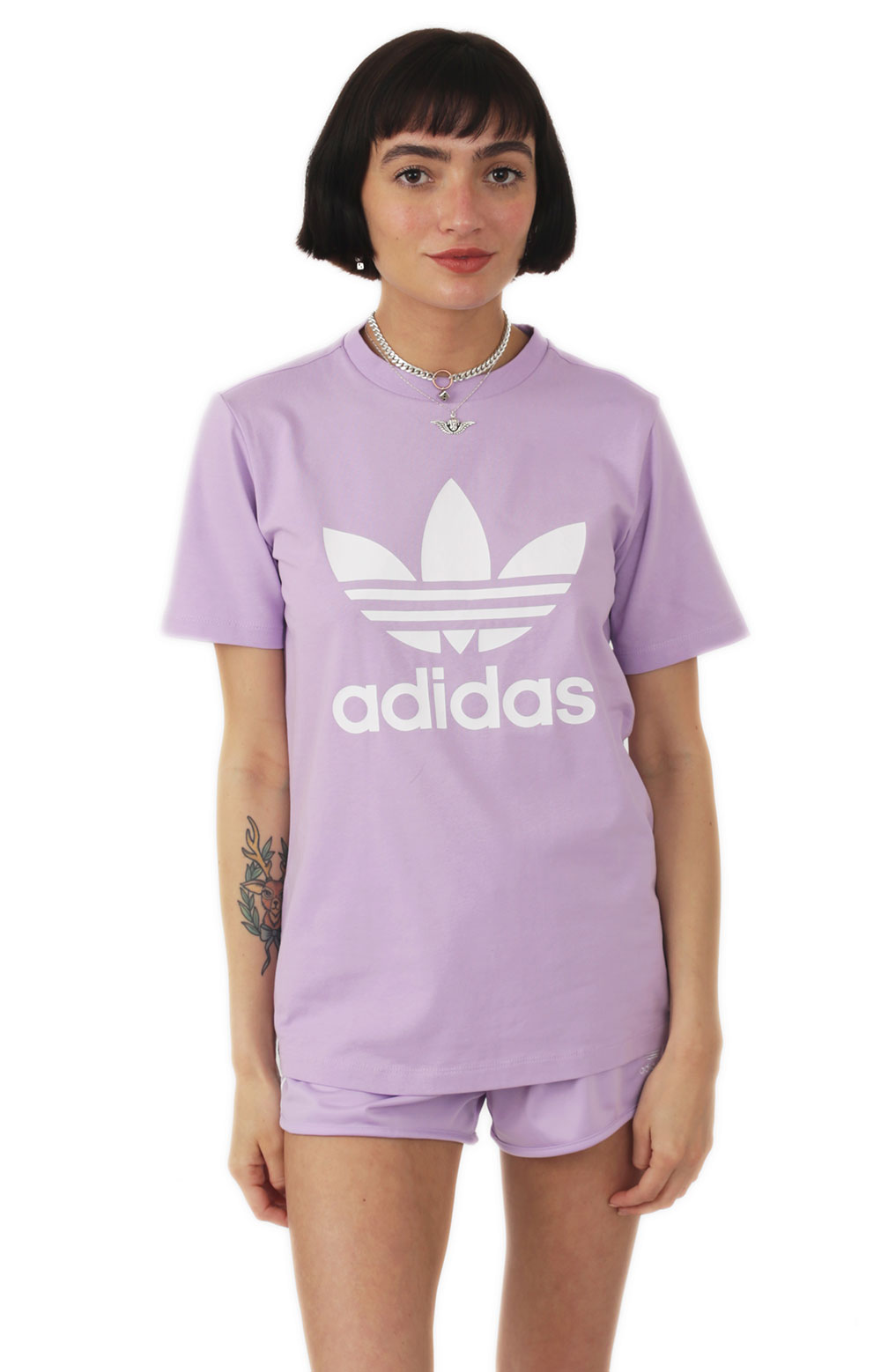 Adidas Women's, (DV2595) Trefoil T-Shirt - Purple Glow