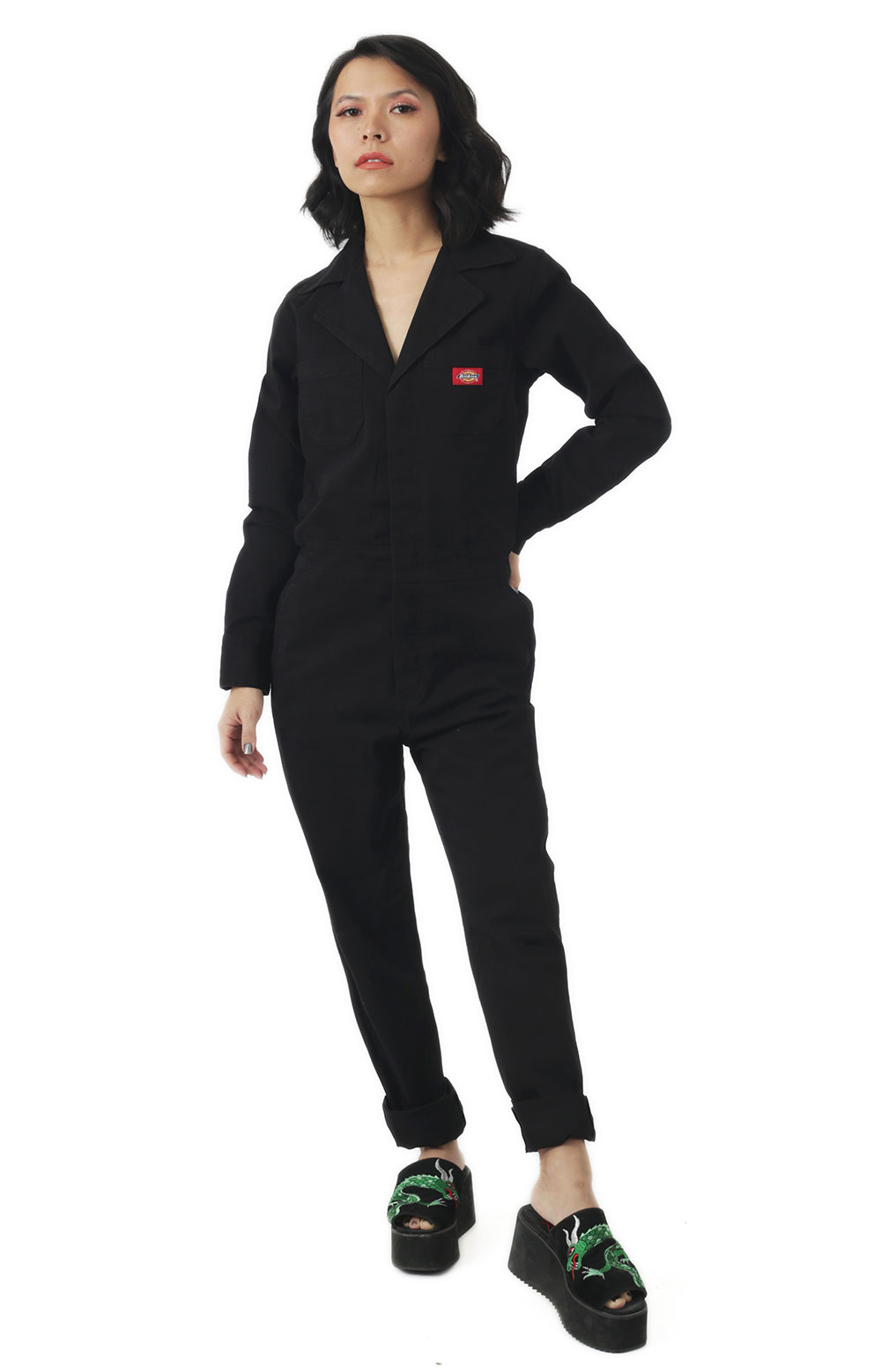 Dickies Women's, Relaxed Fit Jumpsuit - Black