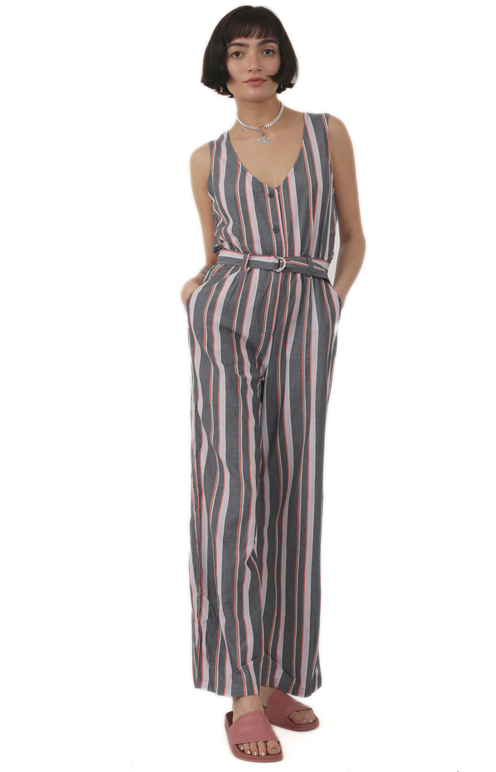 Baja Jumpsuit - Navy Multi