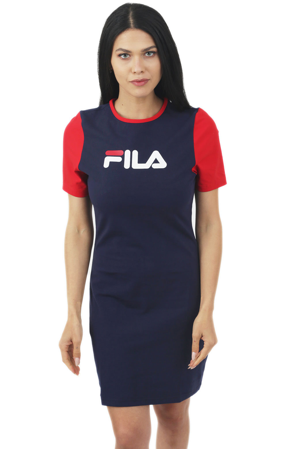 Roslyn Dress - Navy/Red