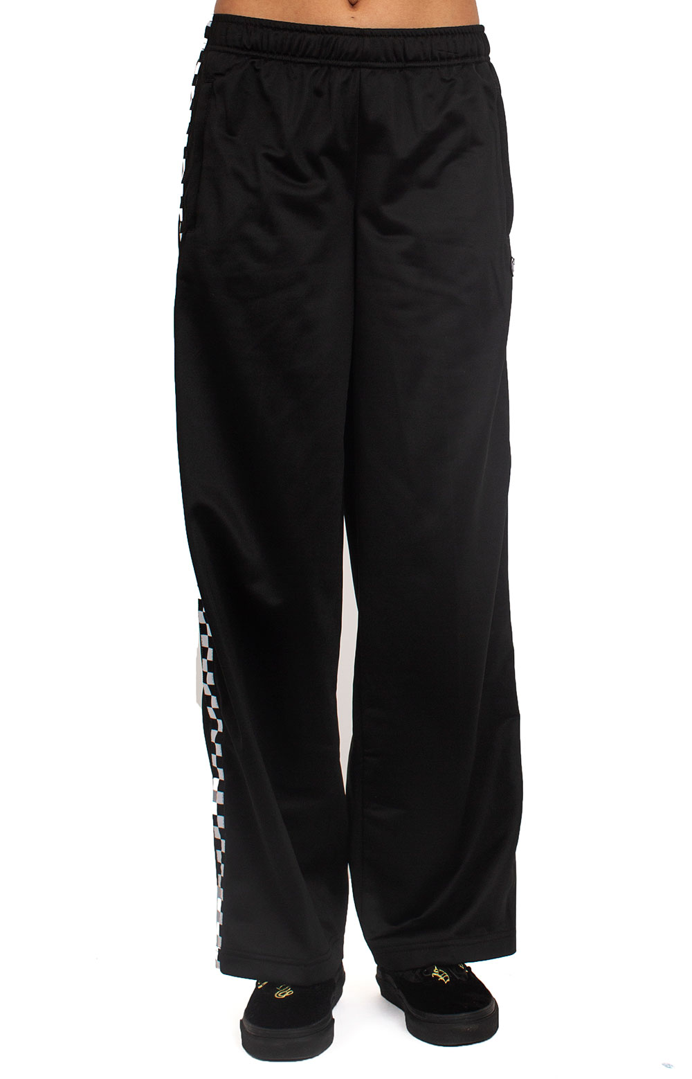 Check Mark Track Pants - Black