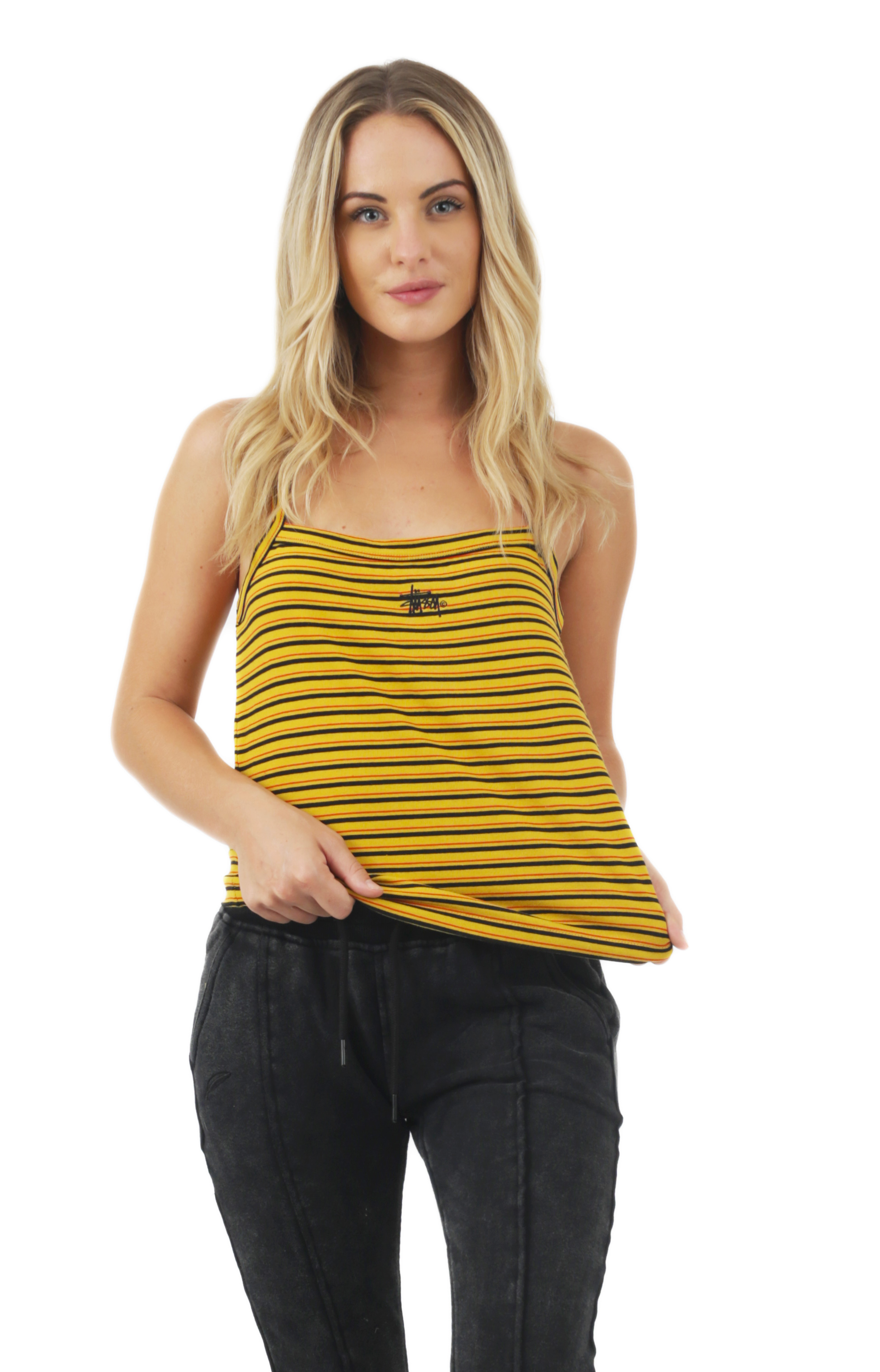 Charlie Striped Tank - Yellow