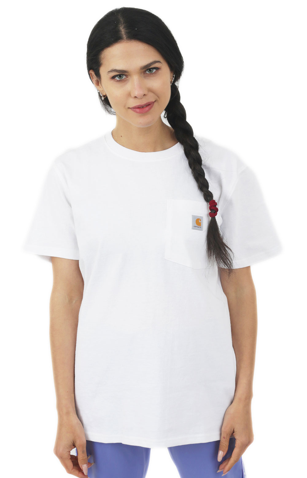 Carhartt Womens, (103067) WK87 Workwear Pocket T-Shirt - White