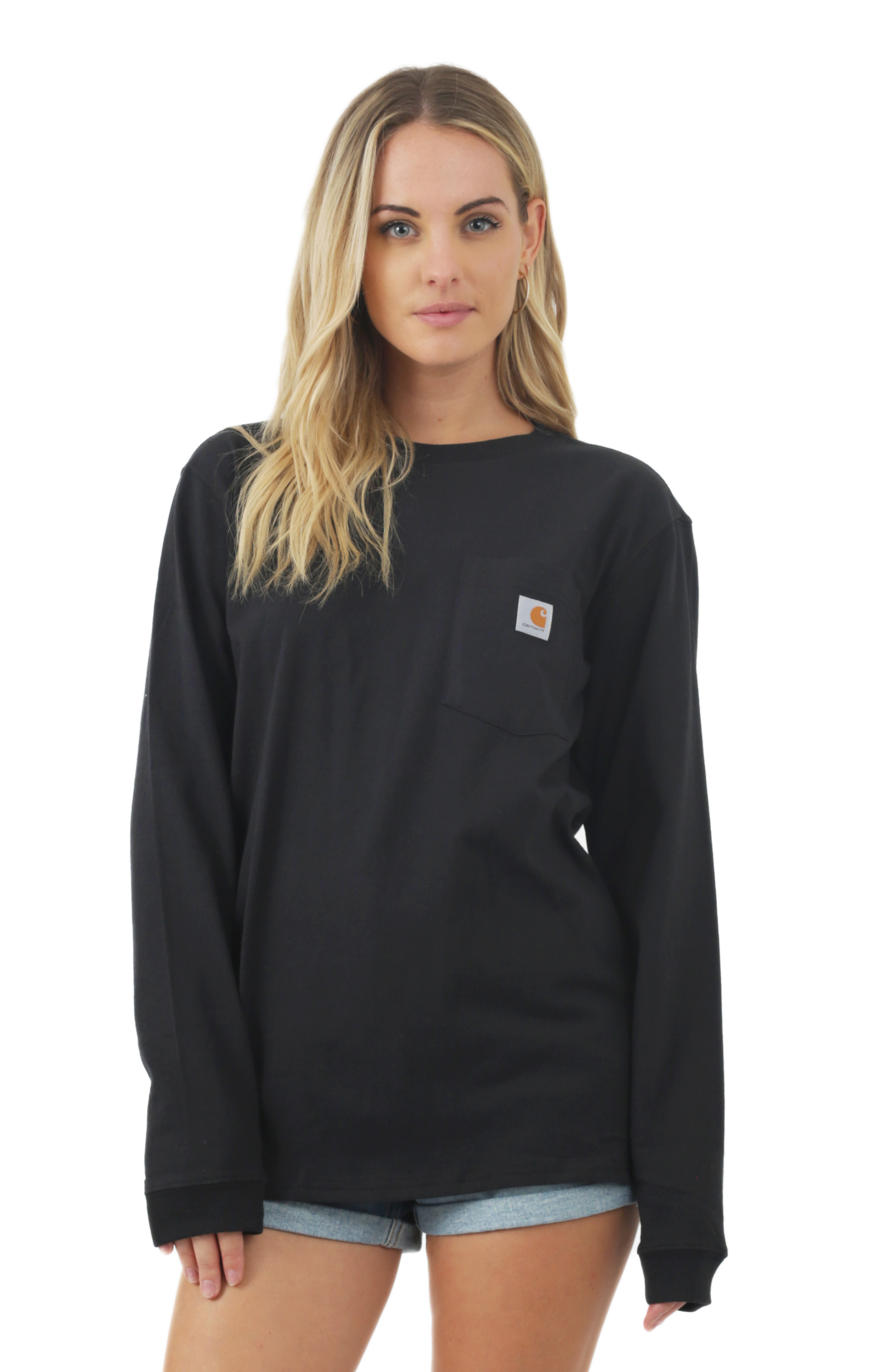 (103244) WK126 Workwear Pocket L/S Shirt - Black