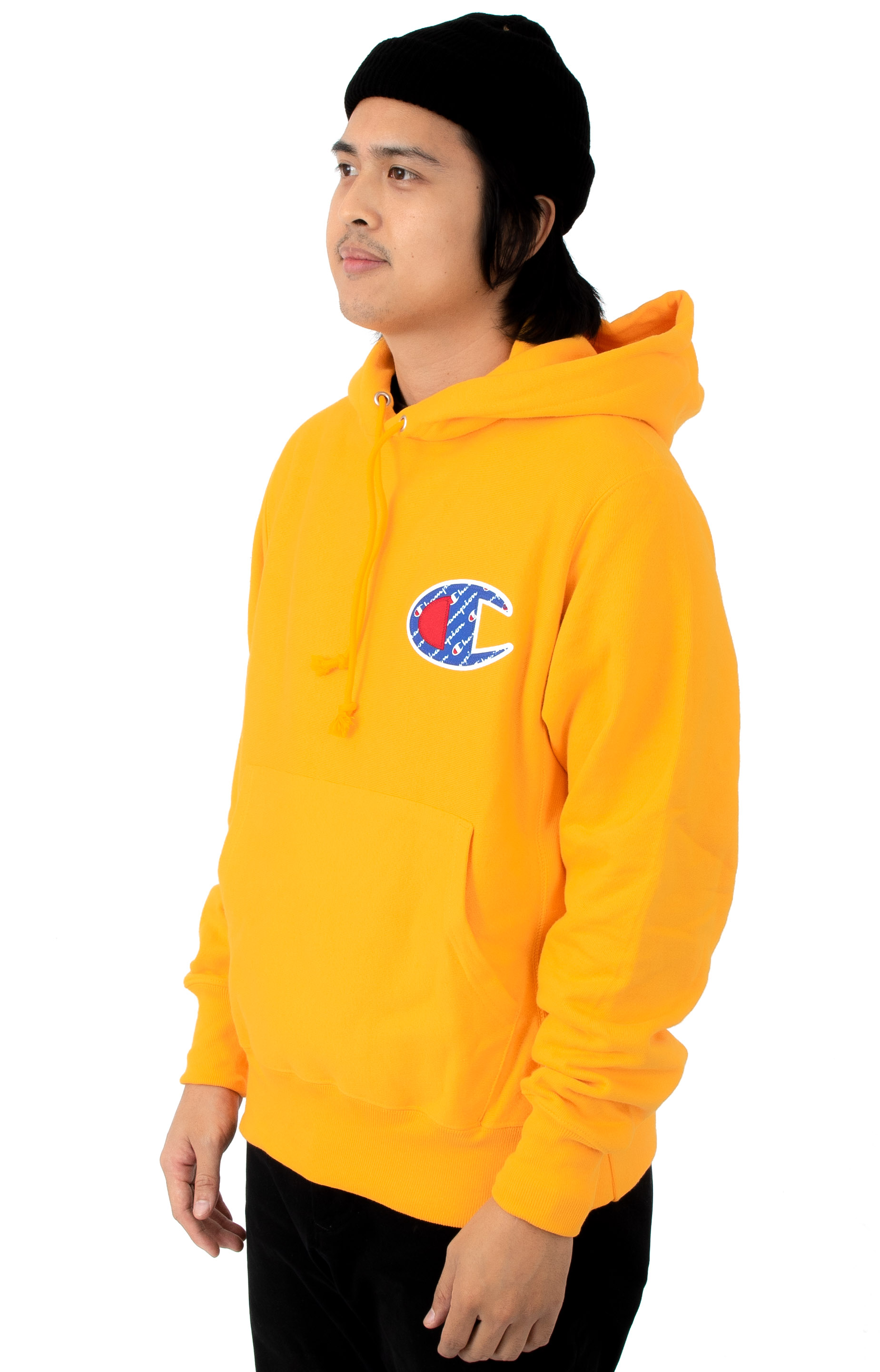 Reverse Weave Sublimated C Logo Pullover Hoodie - C Gold 3