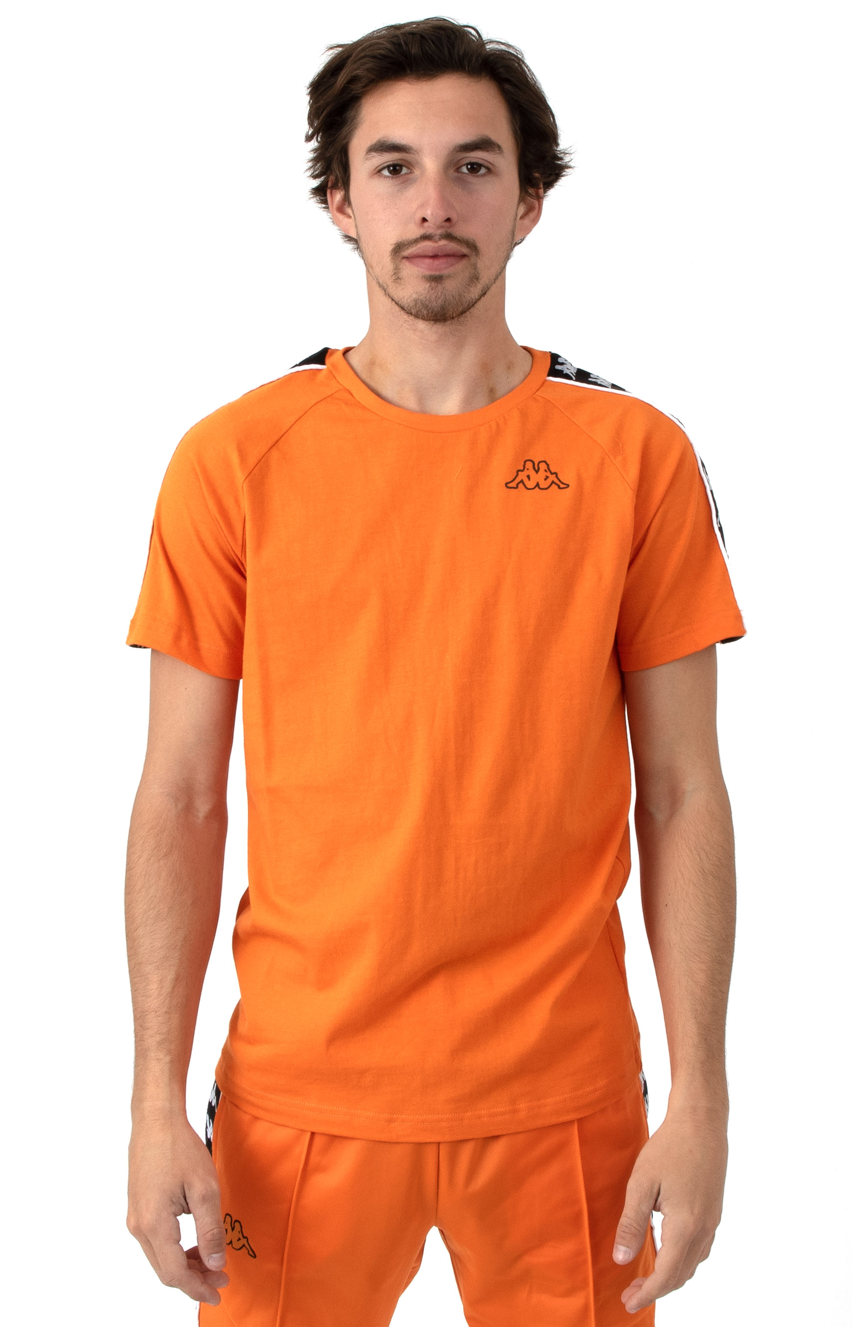222 Banda Coen Slim T-Shirt - Orange/Black