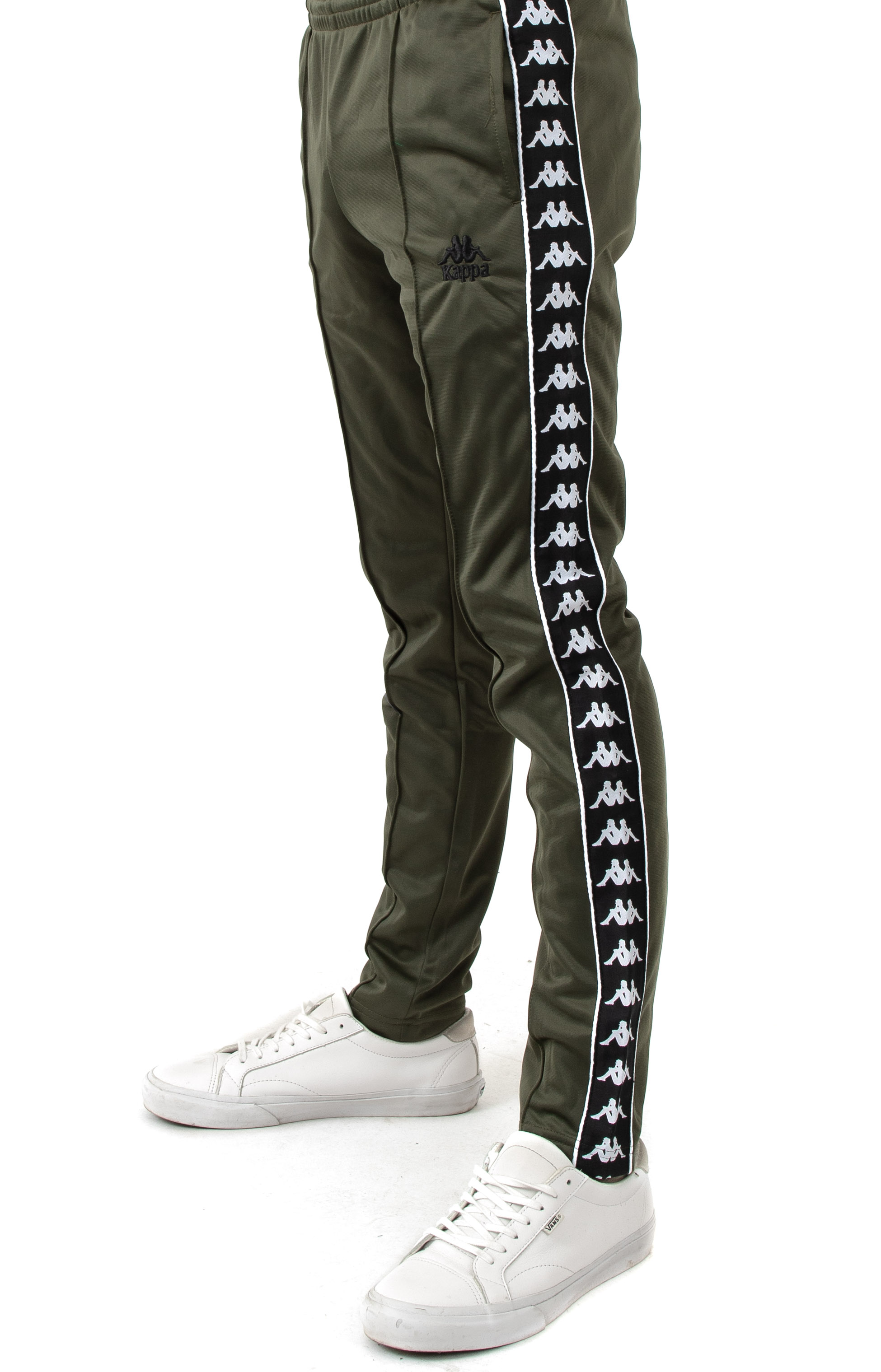 Authentic Fairfax Slim Track Pants - Green/Black