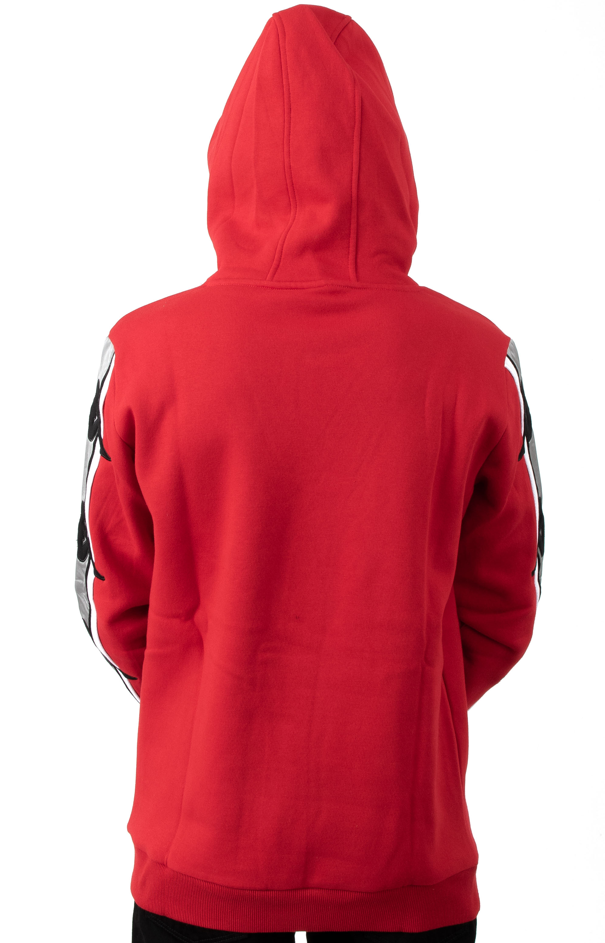 Authentic Bzaliab Pullover Hoodie - Red DK/Grey Silver 3