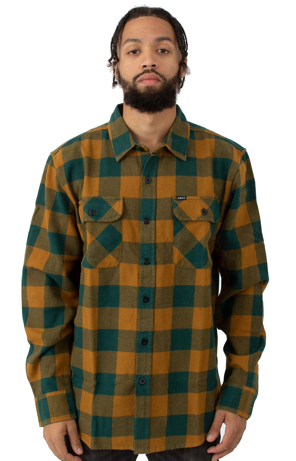 Vedder Woven Button-Up Shirt - Teal Multi
