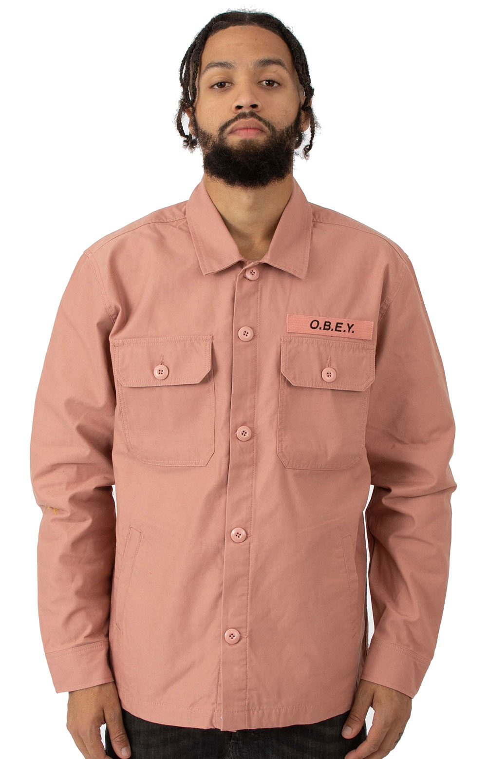 Station Shirt Jacket - Rose