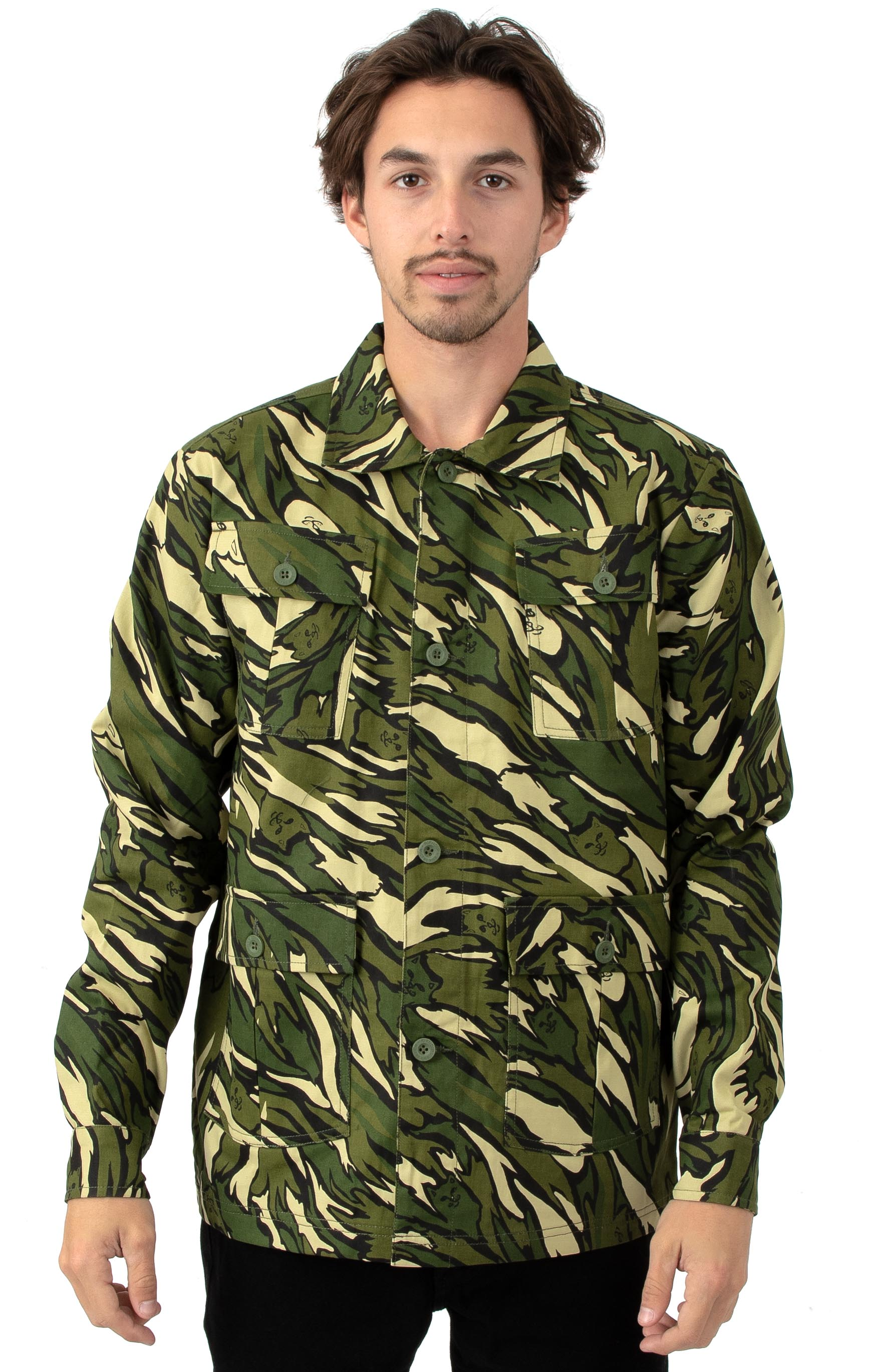 Tiger Nerm Ripstop Work Jacket - Green Camo