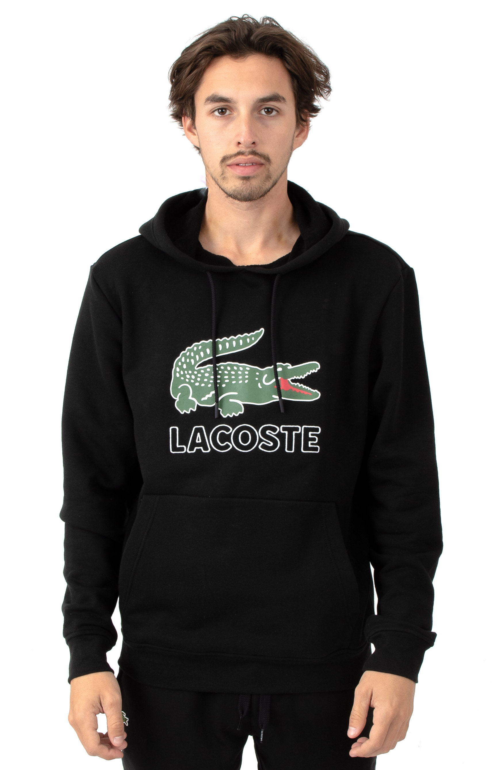 Graphic Croc Fleece Pullover Hoodie - Black